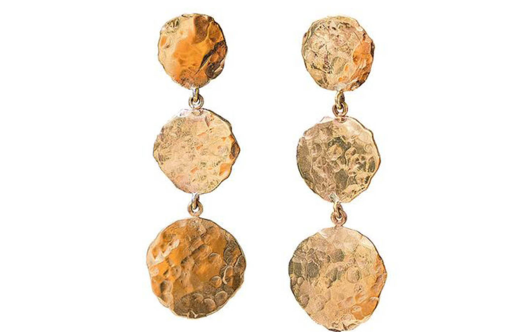 Sarah Gardner – Hammered Roman Disk Earrings